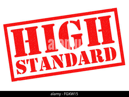 HIGH STANDARD red Rubber Stamp over a white background. - Stock Photo