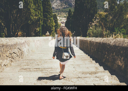 Walking down on Calvary Steps - Stock Photo