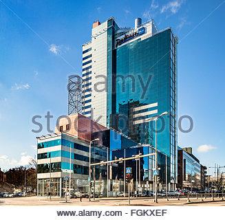 Radisson Blu hotel in Tallinn, Estonia, Künnapu&Padrik architects - Stock Photo