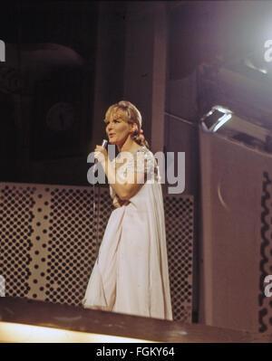 PETULA CLARK English singer and film actress about 1972. - Stock Photo