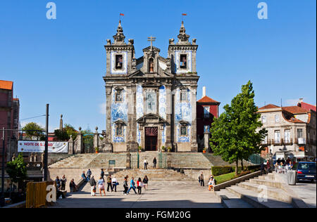 PORTO, PORTUGAL - JUNE 19, 2013: Church of Saint Ildefonso (Igreja de Santo Ildefonso), a 18th century building - Stock Photo