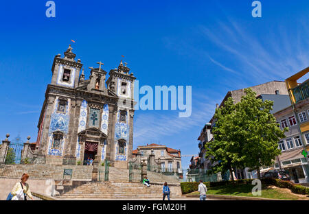 PORTO, PORTUGAL - JUNE 21, 2013: Church of Saint Ildefonso (Igreja de Santo Ildefonso), a 18th century building - Stock Photo