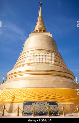 The Golden Mount (Wat Saket) - A golden stupa in Bangkok, Thailand - Stock Photo