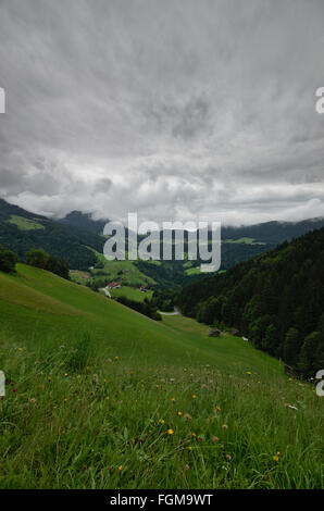 Heavy Weather over Brandenberg, Tyrol - Stock Photo
