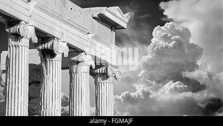 Athens - The Erechtheion on Acropolis in morning light. - Stock Photo