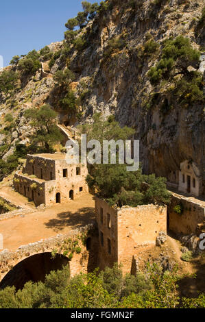 Griechenland, Kreta, bei Chania, Akrotiri-Halbinsel, das verlassene Kloster Katholiko. - Stock Photo