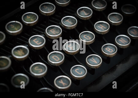 Closeup of the keys of an old typewriter