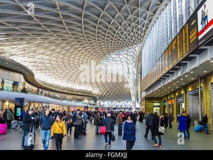 King's Cross Railway Station, London, England, UK - Stock Photo