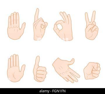Hand gestures - Stock Photo