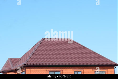 ... A House With A Roof Made Of Metal Sheets. The House With Gables, Windows