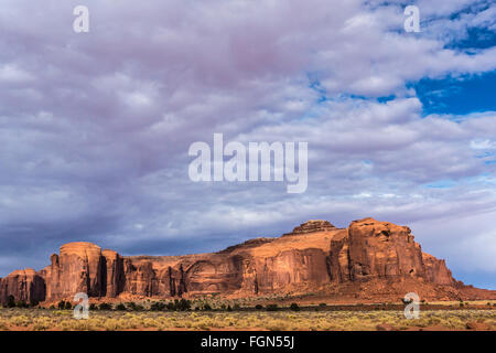 sandstone buttes in a region of the Colorado Plateau in AZ US - Stock Photo