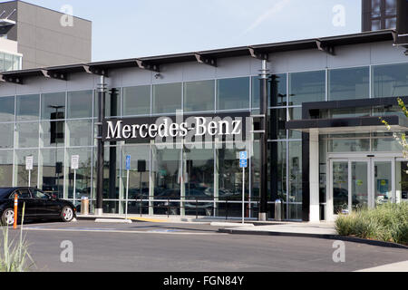 Mercedes Benz Dealership In Los Angeles California   Stock Photo
