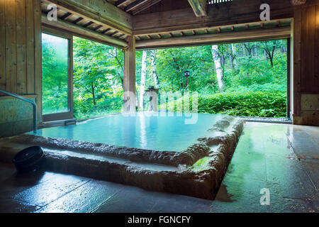 Onsen private hot spring bath tab at a ryokan traditional - Ryokan tokyo with private bathroom ...
