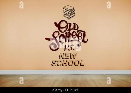 Composite image of old school vs new school - Stock Photo