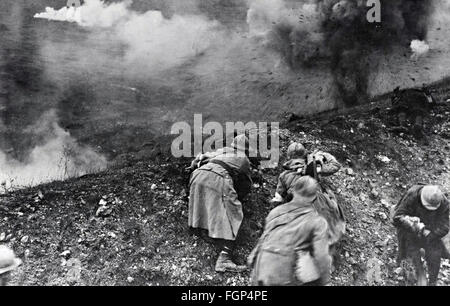 Battle of Verdun 1916 - Assault - Stock Photo