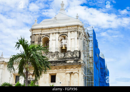 Catedral de la Ascuncion de Maria, or simply the Cathedral of Leon, is the largest in Central America - Stock Photo