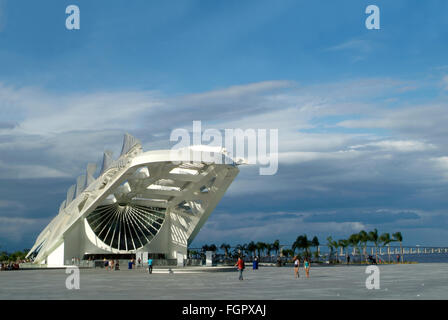 Rio de Janeiro, Brazil - February 18, 2016, Museum of Tomorrow (Tomorrow Museum), designed by Spanish architect - Stock Photo
