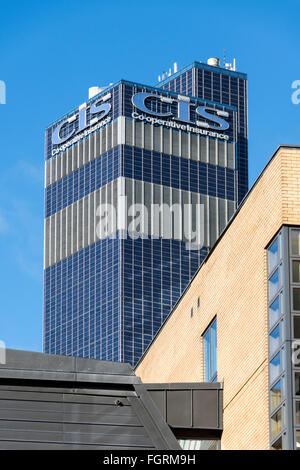 The CIS building. Gordon Tait and G. S. Hay, 1962.  Headquarters of the Cooperative Insurance Society, Manchester, - Stock Photo