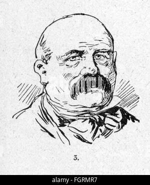 people, men, beard, half-bald man with moustache, wood engraving, out of: 'Die Woche', number 30, Berlin, 1899, - Stock Photo