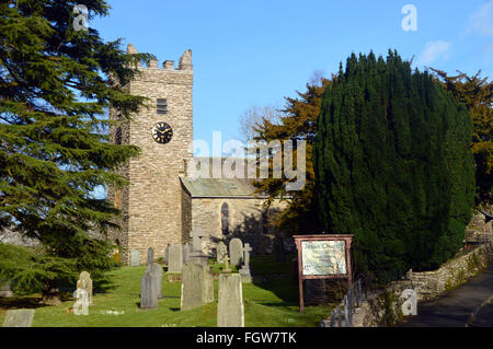 Jesus Church Troutbeck in Winter Sunshine,Lake District National Park Cumbria UK - Stock Photo