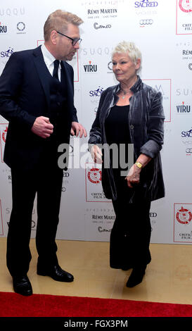 36th London Critics' Circle Film Awards held at the Mayfair Hotel - Arrivals  Featuring: Kenneth Branagh, Dame Judi - Stock Photo