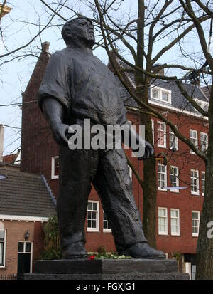 Dokwerker Statue at JD Meijerplein in Amsterdam, commemorating the General  strike of 25th & 26th of February 1941, - Stock Photo