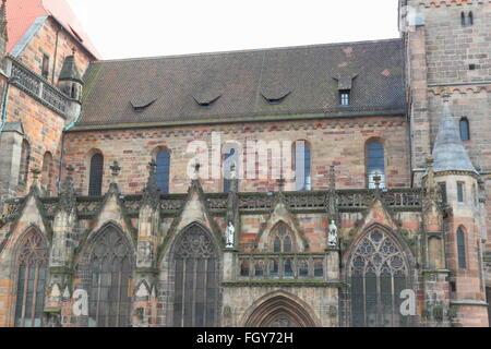St. Sebaldus Church (St. Sebald, Sebalduskirche). Medieval church in Nuremberg, Germany - Stock Photo