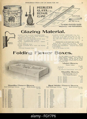 Currie's general wholesale catalogue for florists, market gardeners and truckers - Stock Photo