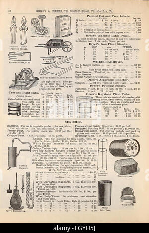 Dreer's quarterly wholesale price list - Stock Photo