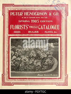 Florists' wholesale catalogue - Stock Photo
