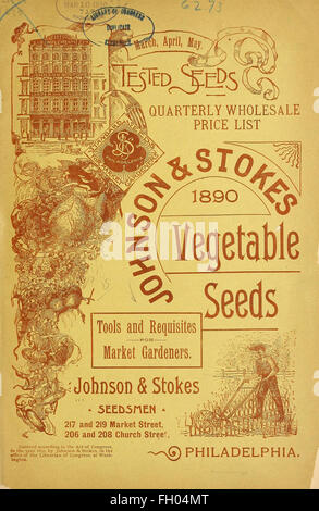 March, April May tested seeds quarterly wholesale price list - Stock Photo