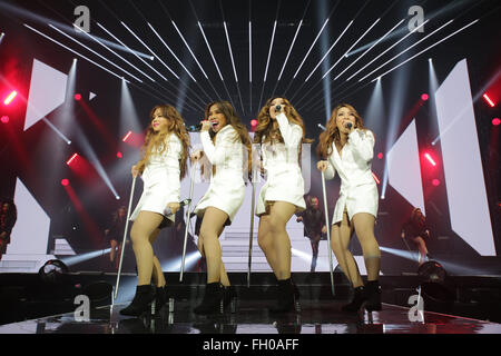 Brighton, UK. 22nd February, 2016. The X Factor Live Tour, The Brighton Centre, Brighton, Britain - 22 Feb  2016 - Stock Photo