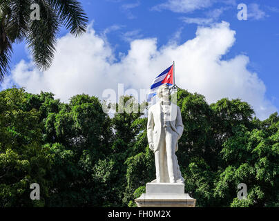 Statue of the great national hero Jose Julian Marti Perez, he was a poet, and essayist, a journalist, a revolutionary - Stock Photo