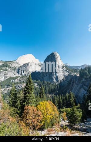 Liberty Cap, Yosemite National Park, California, USA, North America - Stock Photo