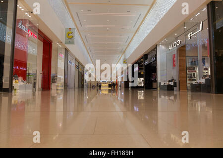 Low angle view of the City Center Meaisem mall Dubai - Stock Photo