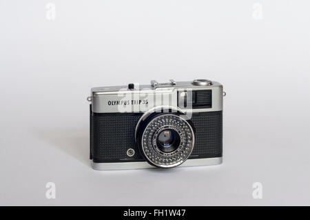 An Olympus Trip 35 compact film camera. - Stock Photo