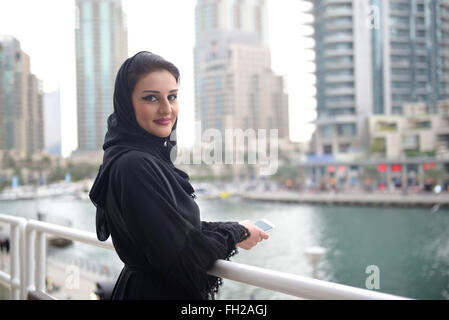 Young beautiful Emirati arab woman - Stock Photo