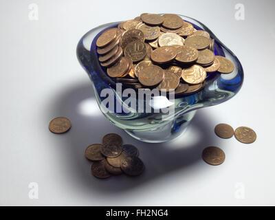 Nice blue vase, full of trifle - Stock Photo