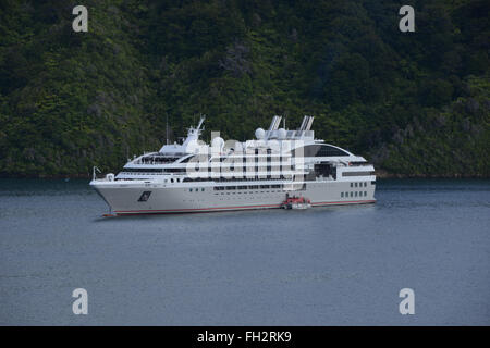 The World Floating Hotel And Cruise Ship Moored On The