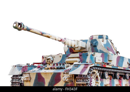 Scale model of a german tank from WWII - Stock Photo