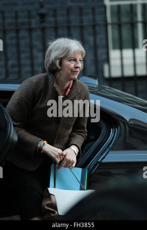 London, UK. 23rd February, 2016. Theresa May seen at Downing Street on Feb 23, 2016 in London - Stock Photo