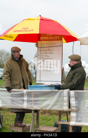 Ted Spreckley bookmakers on a horse racing track - Stock Photo