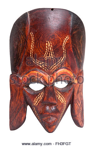 African Hand Carved Wooden Warrior Maasai Mask Used In