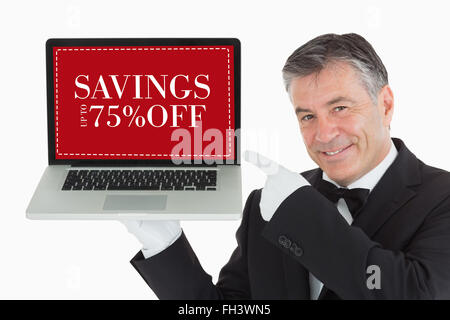 Composite image of sale advertisement - Stock Photo