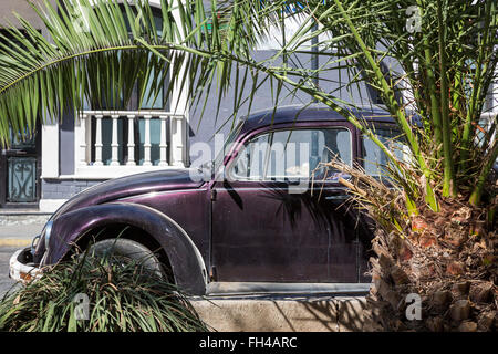 Oaxaca, Mexico - An old Volkswagen Beetle, one of many still on the streets in Mexico. - Stock Photo