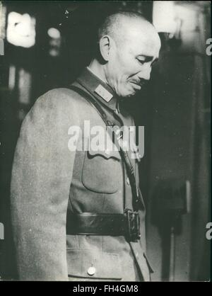 1945 - Chiang Kai-shek (October 31, 1887 - April 5, 1975) was a Chinese political and military leader who served - Stock Photo