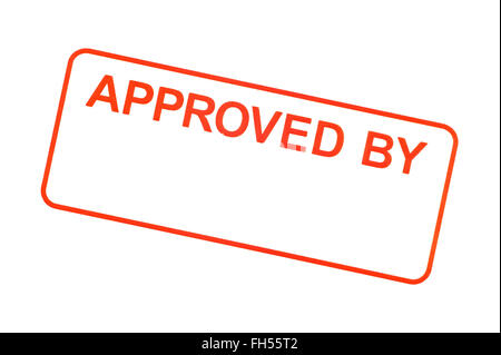 Approved By Rubber Stamp - Stock Photo