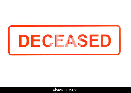 Deceased Rubber Stamp - Stock Photo