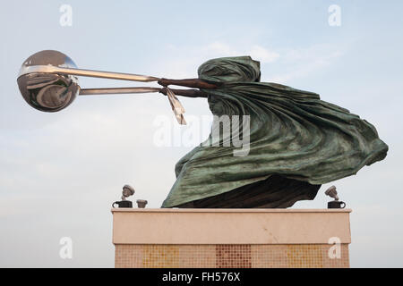 Katara Amphitheater statue - Force of Nature II by Lorenzo Quinn - Stock Photo