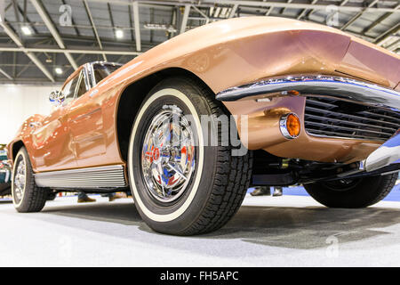 1963 Corvette Stingray on display at the 2016 London Classic Car Show - Stock Photo